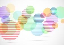 Retro kleurrijke heldere achtergrond van cirkelelementen Royalty-vrije Stock Afbeeldingen