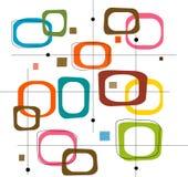 Retro Kleurrijke Vierkanten (Vector Stock Foto