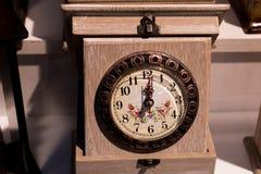 Retro klocka och mekanism Royaltyfri Foto