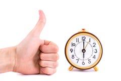 Retro klocka som isoleras på vit bakgrund Royaltyfria Foton
