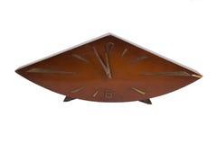 Retro klok die 12 uren toont Royalty-vrije Stock Fotografie