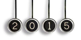 Retro 2015 kluczy Zdjęcia Stock