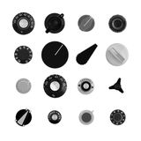 Retro knobs Stock Images