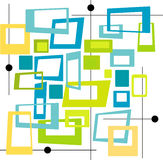 Retro Koele Vierkanten van Kleuren (Vec Stock Fotografie