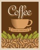 Retro koffie Stock Foto