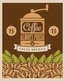 Retro koffie Royalty-vrije Stock Afbeeldingen