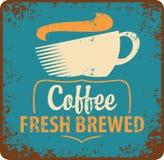 Retro koffie stock illustratie
