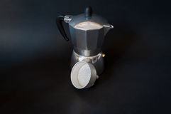 Retro koffie kokende machine Royalty-vrije Stock Foto