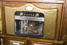 Retro koffiemachine Royalty-vrije Stock Afbeelding