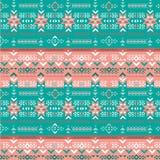 Retro kolorów navajo plemienny wektorowy bezszwowy wzór Aztek sztuki abstrakcjonistyczny geometryczny druk ilustracja wektor