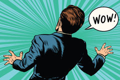 Retro- komische Pop-Art der wow-Reaktionsmann-Furcht