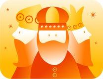 Retro koningen vector illustratie