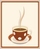 Retro kop van koffie royalty-vrije illustratie