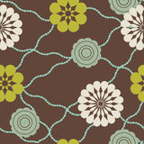 retro koralików kwiaty Zdjęcie Stock
