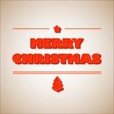 Retro kort för hälsning för glad jul för tappning Royaltyfri Foto