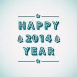 Retro kort för hälsning för lyckligt nytt år för tappning Arkivbilder