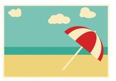 Retro kort för sommar stock illustrationer