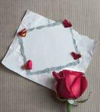 Retro kort för valentindag Royaltyfri Foto
