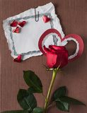 Retro kort för valentindag Arkivfoto