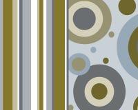 Retro- Kreise und grafische Auslegung der Streifen Lizenzfreies Stockbild
