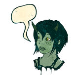 retro kreskówka obcego dziewczyna Obraz Stock