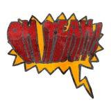 retro kreskówka oh yeah! krzyk Zdjęcia Stock