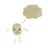 retro kreskówki czaszki charakter Fotografia Stock