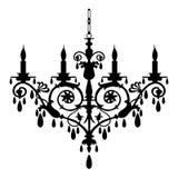 Retro kroonluchtersilhouet Royalty-vrije Stock Foto