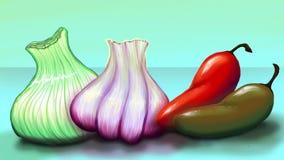 Retro kryddiga grönsaker Arkivbild