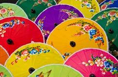 Retro kunst met de hand gemaakte paraplu Thailand Stock Foto