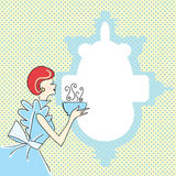 Retro kvinna royaltyfri illustrationer
