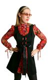 retro kvinna för mode royaltyfria bilder