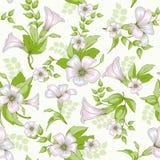Retro kwiatu bezszwowy wzór - wildflowers Obrazy Royalty Free