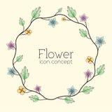 Retro kwiatu tła pojęcie wektor Zdjęcia Stock