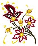 retro kwiecisty tła ilustracji