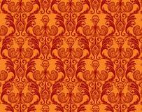 retro kwiecisty złocisty ornament Zdjęcia Stock