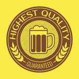 Retro label for beer or brew. Vector illustration. Retro label for beer or brew. Vector illustration eps10 Royalty Free Stock Image