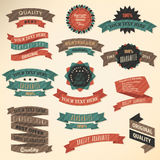 Retro label collection Royalty Free Stock Images
