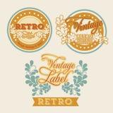 Retro label Stock Photos
