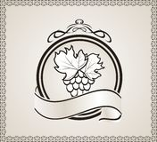 Retro label for packing wine Royalty Free Stock Photography