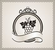 Retro label for packing wine Royalty Free Stock Photos