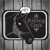 Retro label riding club vector Stock Photo