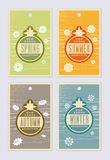 Retro label set Royalty Free Stock Photography