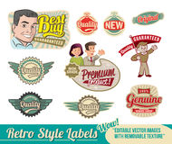 Retro label Set Stock Images