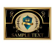 Retro label with shield and crown Royalty Free Stock Images