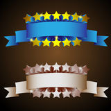 Retro label with stars Stock Image