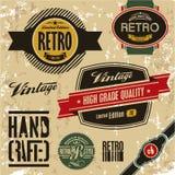 Retro labels stock illustration