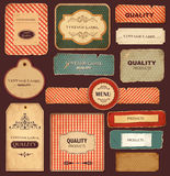 Retro labels Stock Photo