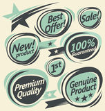 Retro Labels And Stickers Collection Royalty Free Stock Photo