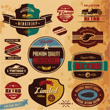 Retro labels and badges. Retro style labels and badges vintage collection. Limited edition. Premium quality stock illustration